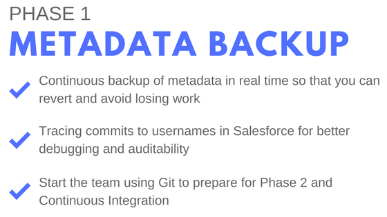 phase one of salesforce best practices: metadata backups