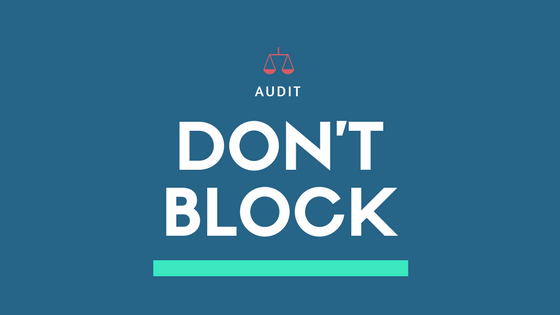 Audit don't block banner