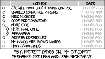 xkcd git commit